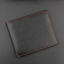 Black Mens Leather Credit Card Holder Wallet Bifold ID Cash Trifold Purse Clutch