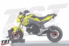 UNIVERSAL MINI-BIKE AXLE SLIDER KIT Honda Grom / MSX125 Kawasaki Z125 RED