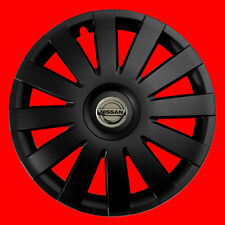 """4X14 """"COPRICERCHI Adatta Nissan Micra Set completo di 4 Nero 14"""" Finitura Opaca"""