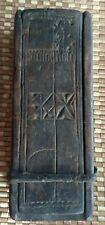 "Antique Samoan Polynesian Pacific Island Wood Carved Box Artifact 8"" Long Hawaii"