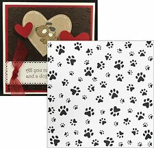 Dog Paw Prints Embossing Folders Df3411 Marianne Folder Animals,puppies,cat