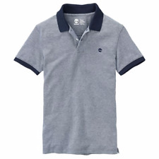 Timberland Men's Keene River SLIM FIT Oxford Dark Navy Polo Shirt Style A199X