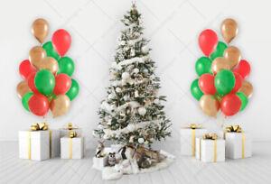"12""X30 Red, green, Gold Balloons Christmas Party Xmas Celebration Santa tree bal"