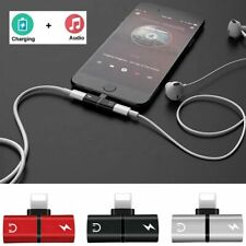 2in1 Lightning Adapter Splitter Dual Headphone Audio & Charger for iPhone