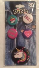Royal Deluxe Accessories Set Of 5 Pins Buttons Unicorn Smile Heart Cupcake