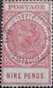 South Australia 1906 9d with GPO Adelaide postmark