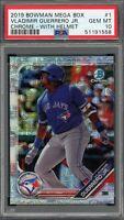 Vladimir Guerrero Jr 2019 Bowman Mega Box Chrome Baseball Card #1 PSA 10