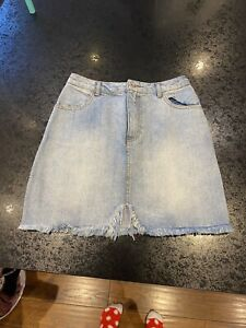 Missguided Denim Skirt Size 6