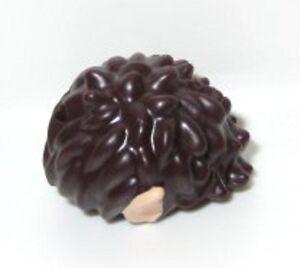 LEGO - Minifig, Hair Short Spiked w/ Light Flesh Elves Ears - Dark Brown