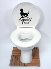 SCOOBY DOO Stile (SCOOBY Poo) Divertenti Sedile Del Water Decalcomania Sticker Nuovo Design