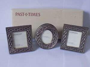 VINTAGE  NEW BOXED PAST TIMES OXFORD   SET OF 3 SMALL CELTIC EMBOSSED  FRAMES