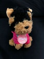 "Gund Justice Pet Shop MACY Puppy Dog Yorkie 5"" Mini Plush Collar & Clothes"