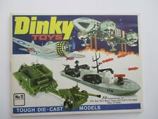 1975 DINKY TOYS CATALOG #11 NM/CLEAN/BRIGHT COLORS/COMPLETE DIE CAST SPACE 1999