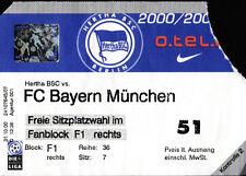 Ticket BL 2000/01 Hertha BSC - FC  Bayern München, 17.12.2000