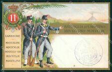 Militari 11º Reggimento Fanteria Battaglia San Martino cartolina XF0034