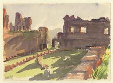 Clara Ege (*1897) : Rom/Palatin/Monte Celio. - 3 Aquarelle, 1951