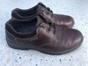 Clarks Cushion Plus GORETEX Brown Leather Shoes Size 9G EU43