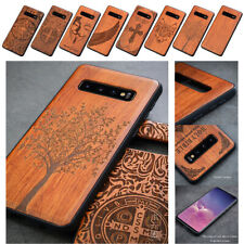 Phone Protective Cover Natural Wood Carved TPU Soft Case For Samsung Galaxy S20+