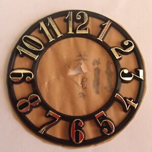 95mm Plastic Ring Clock Dials with Gold Arabic Numerals, Price Reduced