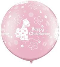 Ballons de fête roses rondes pour la maison Baptême