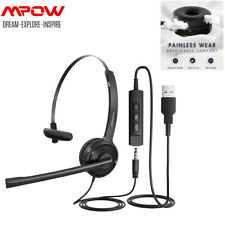 Mpow Single-Sided USB Computer Headset Noise Cancelling Headphone For PC Laptop