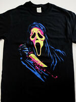 Scream Ghost Face Neon Horror Movie T-Shirt