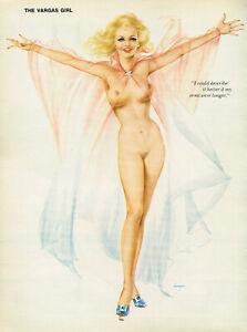 Vintage Alberto Vargas Girl Blonde Nude Woman Lingerie Pin Up Art Print