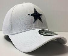 Dallas Cowboys New Era 39THIRTY NFL Sideline Tech Stretch Fit Flex Cap White Hat