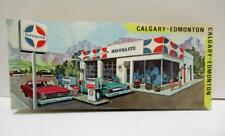 Royalite gasoline service station road map Calgary Edmonton 1968 oil cans