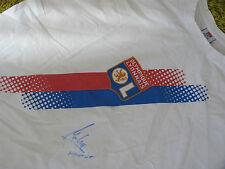 T shirt OLYMPIQUE LYONNAIS Lyon OL signed signé FLORENT MALOUDA ultras foot