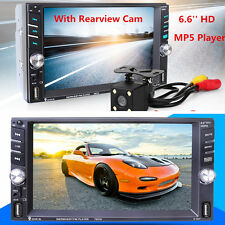 """6.6"""" Touch Screen 2 DIN Car MP5 Media Player Bluetooth Radio Stereo w/ Rear Cam"""