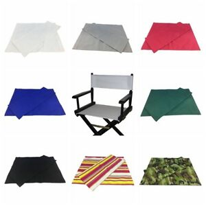 Canvas Backrest & Seat Cloth for Cross Folding Chairs/Stool/Seat,No Stool