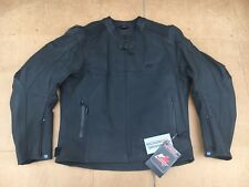 "RK Sports Mens Leather Motorcycle Motorbike Jacket Size UK 46"" - 48"" chest (LBE)"