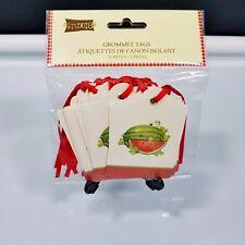 Watermelon Grommet Tags Studio 18 Set of 12