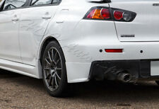 For 08-15 Lancer Evolution EVO X Black Rear Bumper Lip Aprons Polyurethane 2PCS
