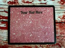 Personalised Nail Table Display Mat - Nail Polish - Pink Background - Add name