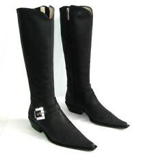 LUCIANO PADOVAN Bottes santiags tout cuir nubuck noir 38 EXCELLENT ETAT