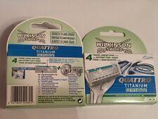 Wilkinson Quattro Titanium Sensitive Ric.*4 Pz. - cuchillas y navajas de afeita