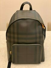 Burberry London Multi Check Black Coated Canvas Backpack