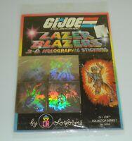Lot 1983 GI Joe Lazer Blazers 3D Holographic Stickers Sheet Holograms Colorforms