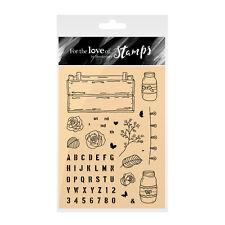 Une caisse pleine d'amour-Pour l'amour de timbres Clear Stamp Set-Hunkydory