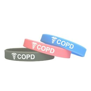COPD Medical Alert Wristband ID Bracelet Silicone Band