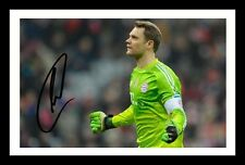 MANUEL NEUER - BAYERN MUNICH AUTOGRAPHED SIGNED & FRAMED PP POSTER PHOTO