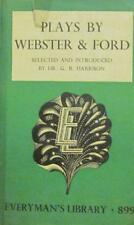 Plays By Webster & Ford(Hardback Book)Dr G.B Harrison-Everyman's Lib-VG