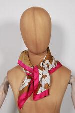 Neu Coccinelle Seiden Tuch Schal Halstuch Scarf 65cm x 65cm (75) #469
