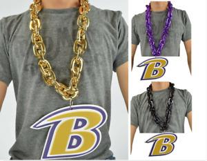 Baltimore Ravens NFL PICK COLOR Big Rope Fan Chain Necklace 3D Foam Magnet