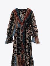 Zara Patchwork Print Dress Size M