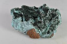 Druzy Quartz over Plancheite and Malachite from Congo 9.5 cm  # 8838