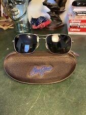 MAUI JIM Wiki Wiki MJ 246-17 Titanium Silver Frame Brown Polarized Sunglasses