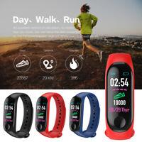 M3 Plus Bluetooth Smart Watch Heart Rate Fitness Tracker Bracelet Pedometer BC2